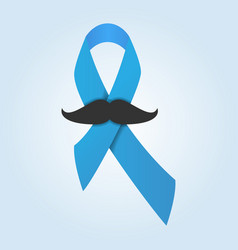 prostate cancer ribbon isolated on blue background vector image