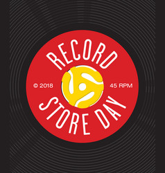 Record store day badge or emblem design vector