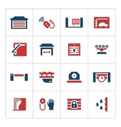 Set color icons automatic gates vector