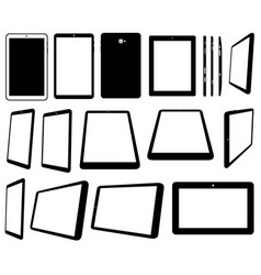 set of different tablets computer vector image
