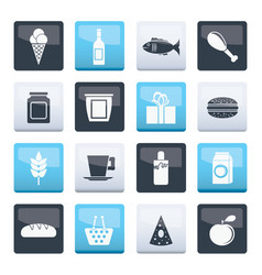 shop food and drink icons over color background vector image