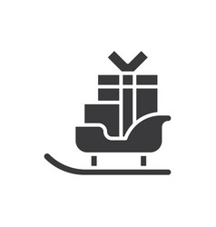 sleigh icon vector image