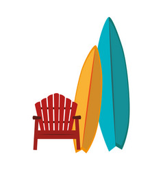 surfboard sport summer icon vector image