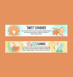 sweet summer hot and fun vector image