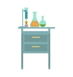 Table with Chemical Reagents vector image