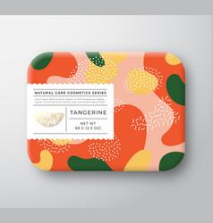 Tangerine bath cosmetics package box vector