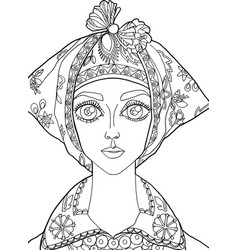 The girl with a decoration on her head 26 vector