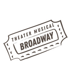 Theater musial broadway flat color vector
