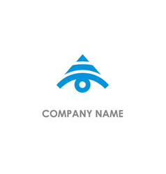 triangle eye logo vector image