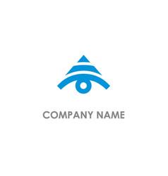 Triangle eye logo vector