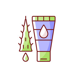 Using moisturizing lotion rgb color icon vector