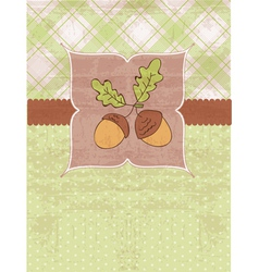 Vintage autumn pattern vector