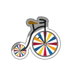 Vintage circus bicycle vector