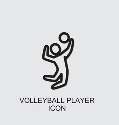 Volleyball player icon vector