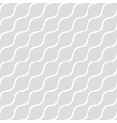 Wavy gray seamless simple background vector image