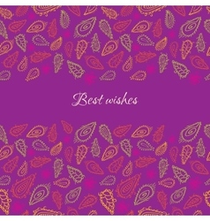 Colorful paisley card vector image vector image