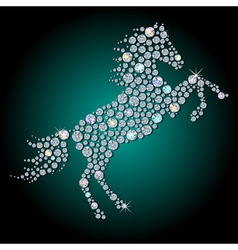 Diamond horse vector image