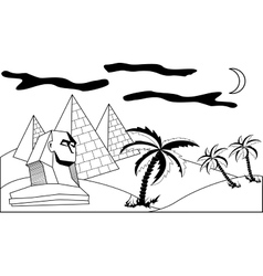 Egyptian landscape vector image