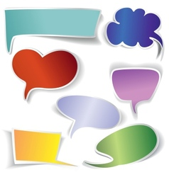 frames and Speech bubbles collection vector image vector image