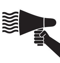 hand holding a megaphone vector image vector image