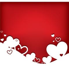 hearts valentine card vector image vector image