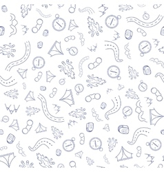 Travel Pattern Hand Draw vector image
