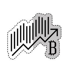 bitcoin statistics graphic icon vector image