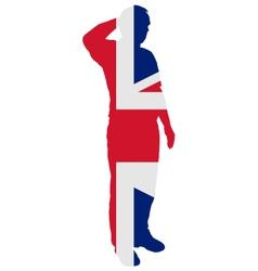 British Salute vector image