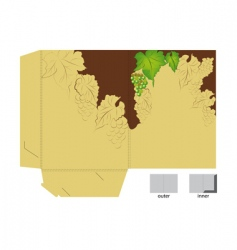gift folder with grapes vector image vector image