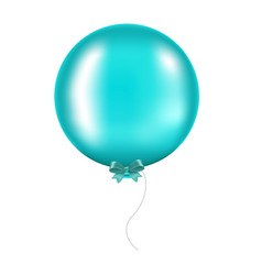 mint bow with balloon vector image vector image