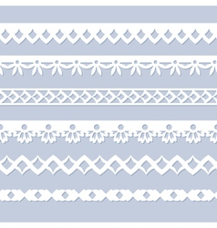 seamless paper borders vector image