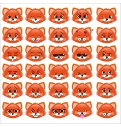 Set of funny kitten emoticons vector image vector image