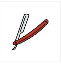 straight razor on white vector image vector image