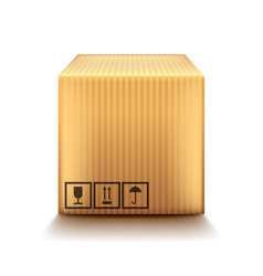cardboard box isolated on white vector image vector image