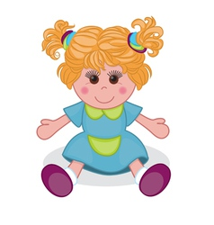 Cute doll vector image vector image