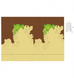 gift bag with grapes vector image vector image