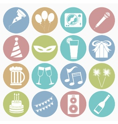 white icons party vector image vector image
