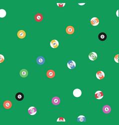 billiard balls seamless pattern vector image