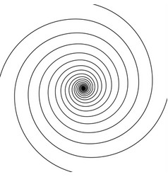 black on white swirl spiral vector image vector image