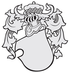 aristocratic emblem No43 vector image