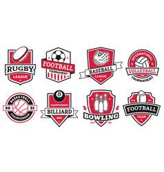 Ball sports logo badges for american football vector