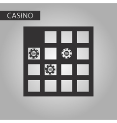Black and white style game table vector