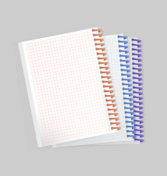 blank realistic spiral notepad notebook on white vector image