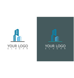 building city town logo vector image