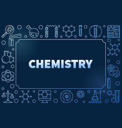 chemistry blue frame with chemical linear vector image