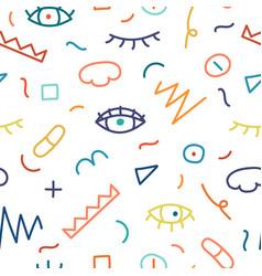 Children hand drawn seamless pattern vector
