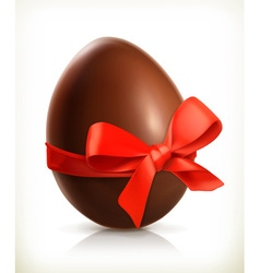 Chocolate easter egg icon vector
