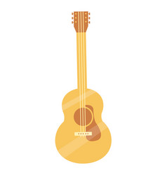 Classic tuned acoustic guitar of light solid wood vector