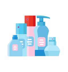 cosmetic products package vector image