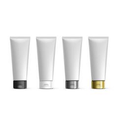 Cosmetic tube for cream gel liquid foam vector